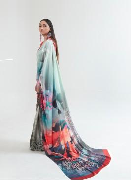 New Design Multi Color Saree