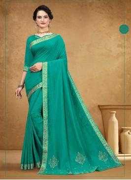 New Design Silk Green Saree