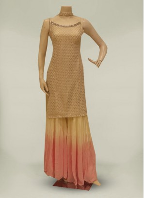 Off white Color Georgette Readymade Salwar Suit