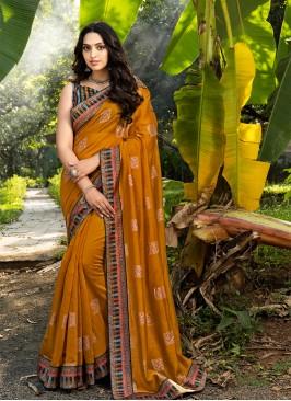 Orange Color Silk Amazing Saree