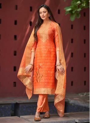 Orange Color Women Salwar Suit