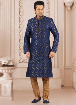 Party Wear Blue Color Kurta Payjama