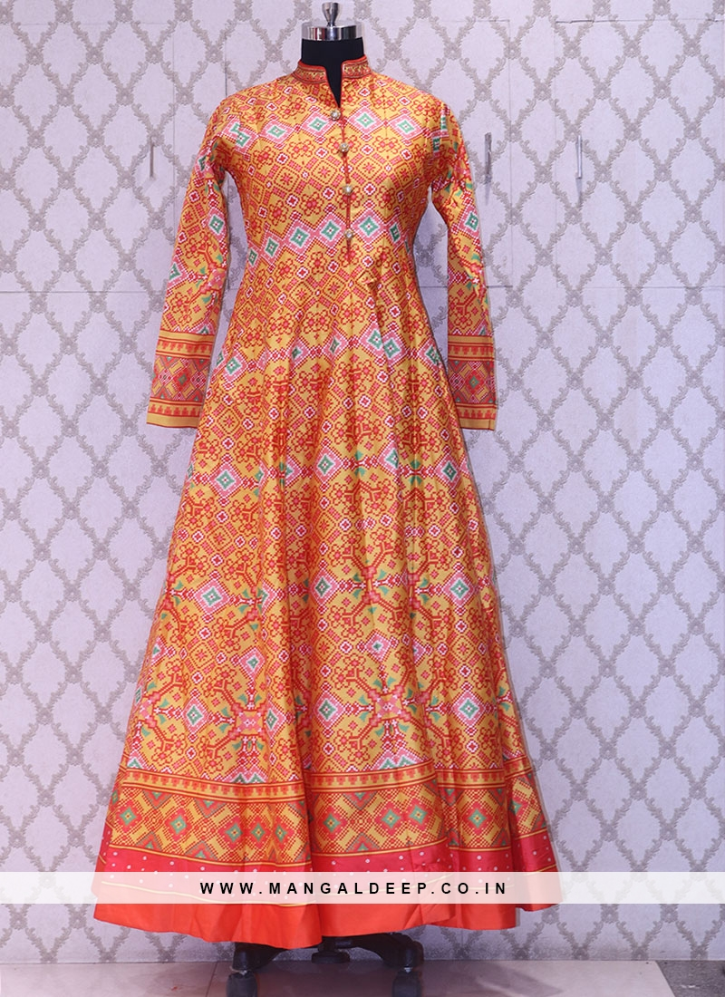 Party Wear Classic Orange Color Designer Salwar Kameez