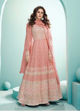 Peach Color Georgette Anarkali Suit