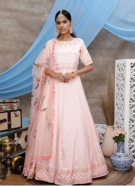 Peach Color Georgette Latest Design Gown