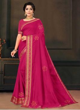Pink Color Beautiful Saree