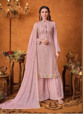 Pink Color Chinon Latest Salwar Suit