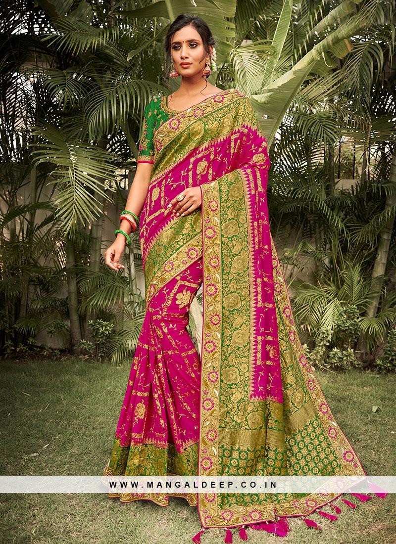 Pink Color Dola Silk Beautiful Saree