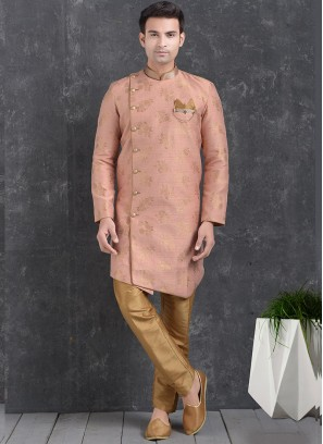 Pink Color Function Wear Indo Western Kurta Pajama