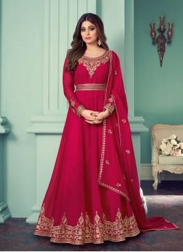 Pink Color Georgette Anarkali Dress
