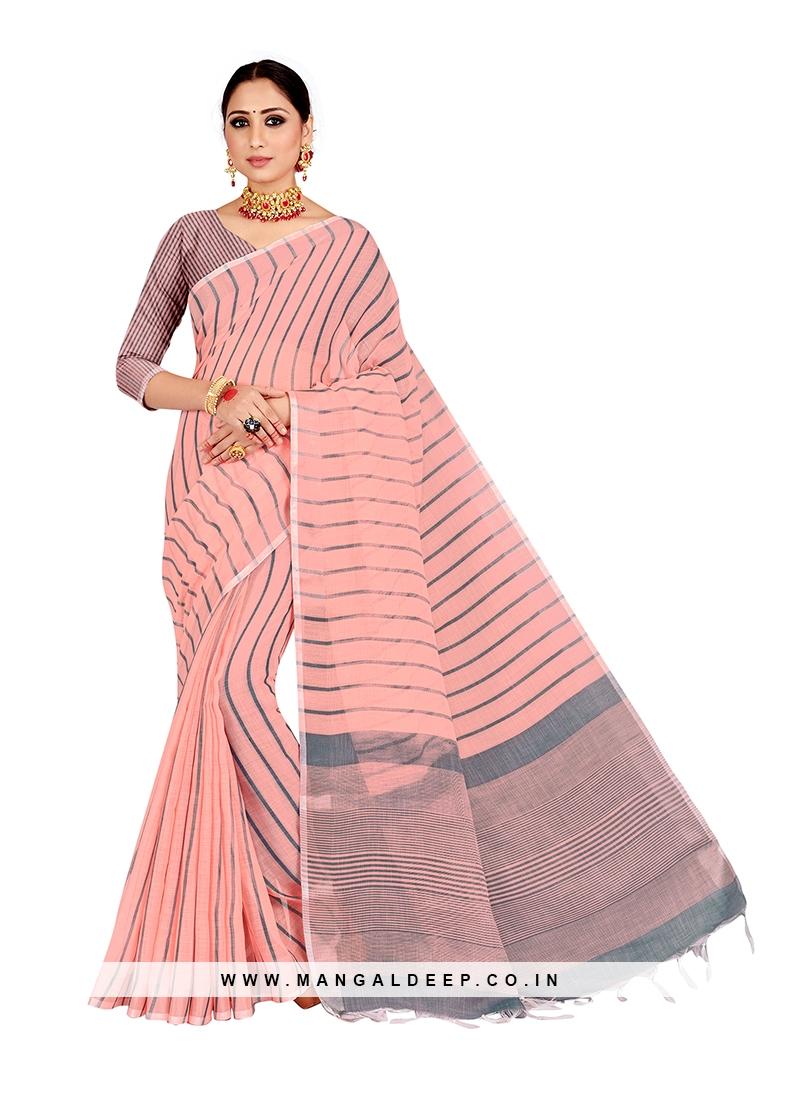 Pink Color Linen Regal Saree