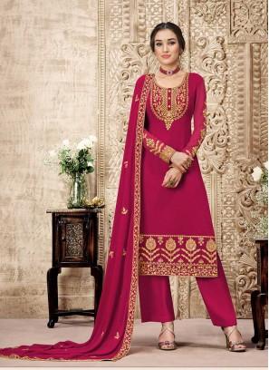 Pink Color Salwar Suit For Ladies