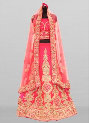 Pink Color Silk Fabric Lehenga Choli Online