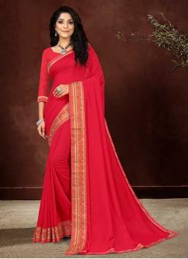Pink Color Silk Fancy Saree