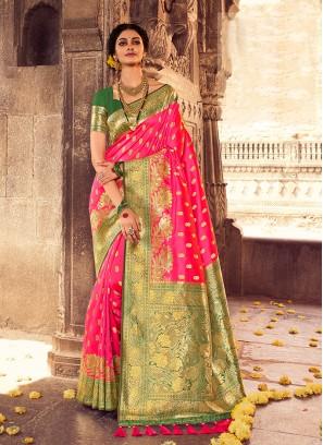 Pink Color Silk Regal Saree