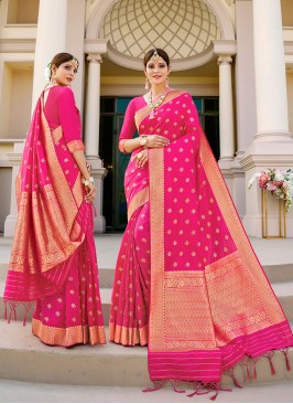 Pink Color Silk Saree Online
