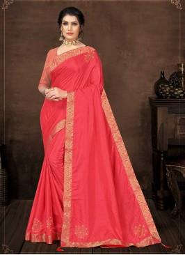 Pink Color Silk Unique Saree