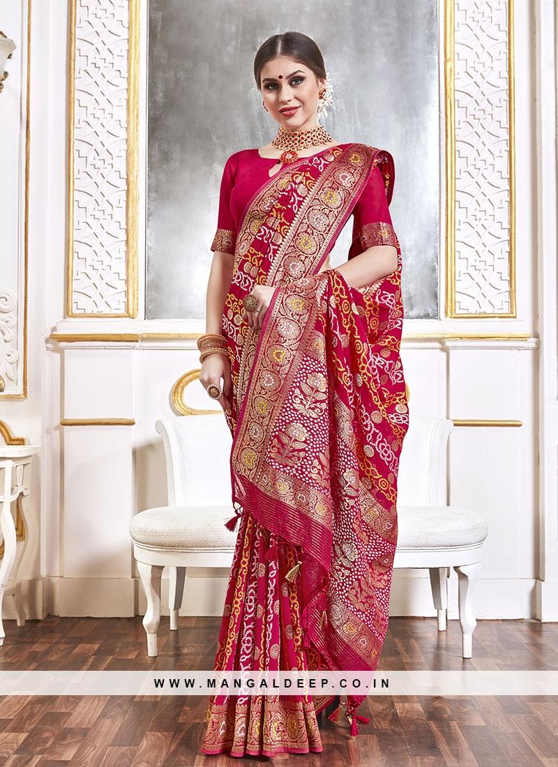 Pink Color Viscose Regal Saree