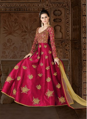 Pink designer Floor length anarkali Suit