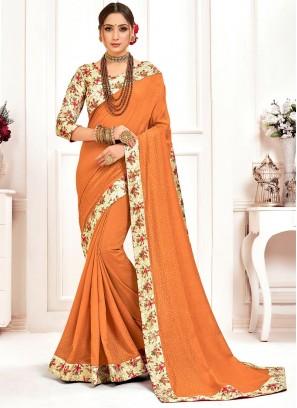 Poly Silk Party Wear Multi Color Saree