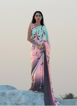 Printed Saree In Multi Color