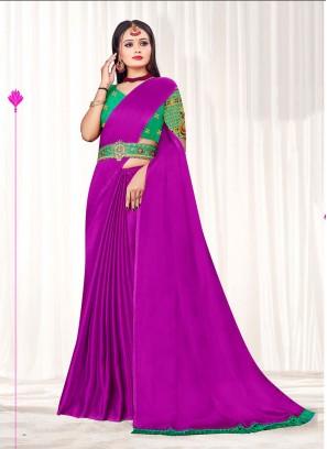 Purple Color Fancy Saree