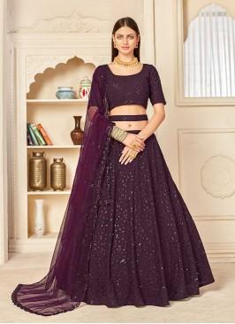 Purple Color Function Wear Lehenga