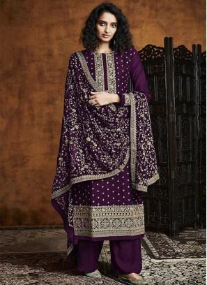 Purple Color Georgette Dress