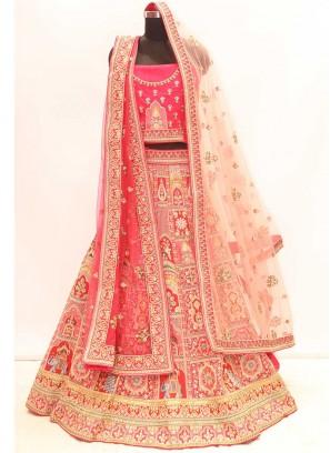 Rani Color Silk Wedding Wear Lehenga Choli