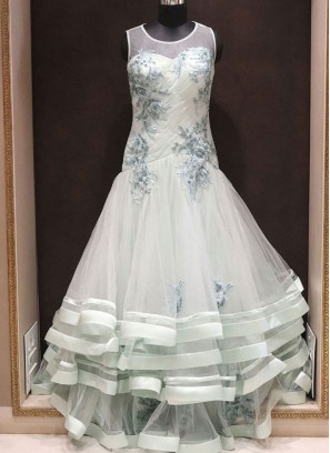 Ready Made Charming Green Color Designer Gown