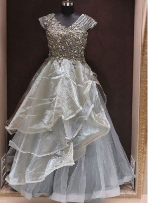 Ready Made Lovely Grey Color Gown