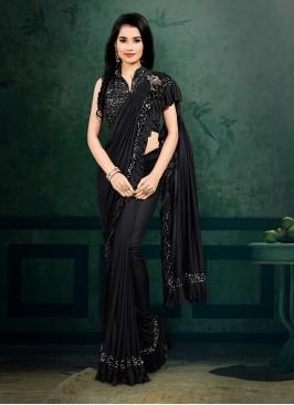 Ready To Wear Saree In Black