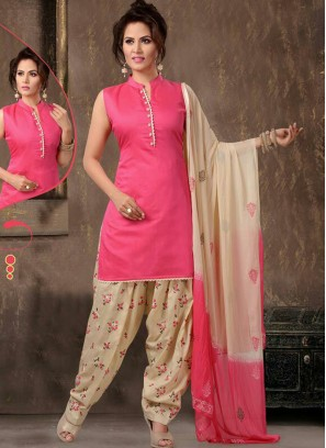 Readymade Silk Pink Panjabi Dress
