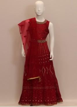 Red Color Designer Chaniya Choli