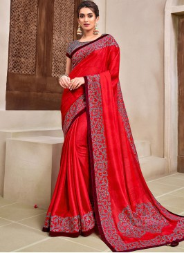 Red Color Latest Saree Collection