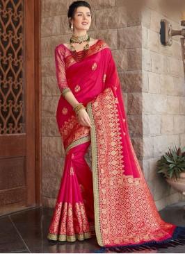 Red Color Silk Designer Saree