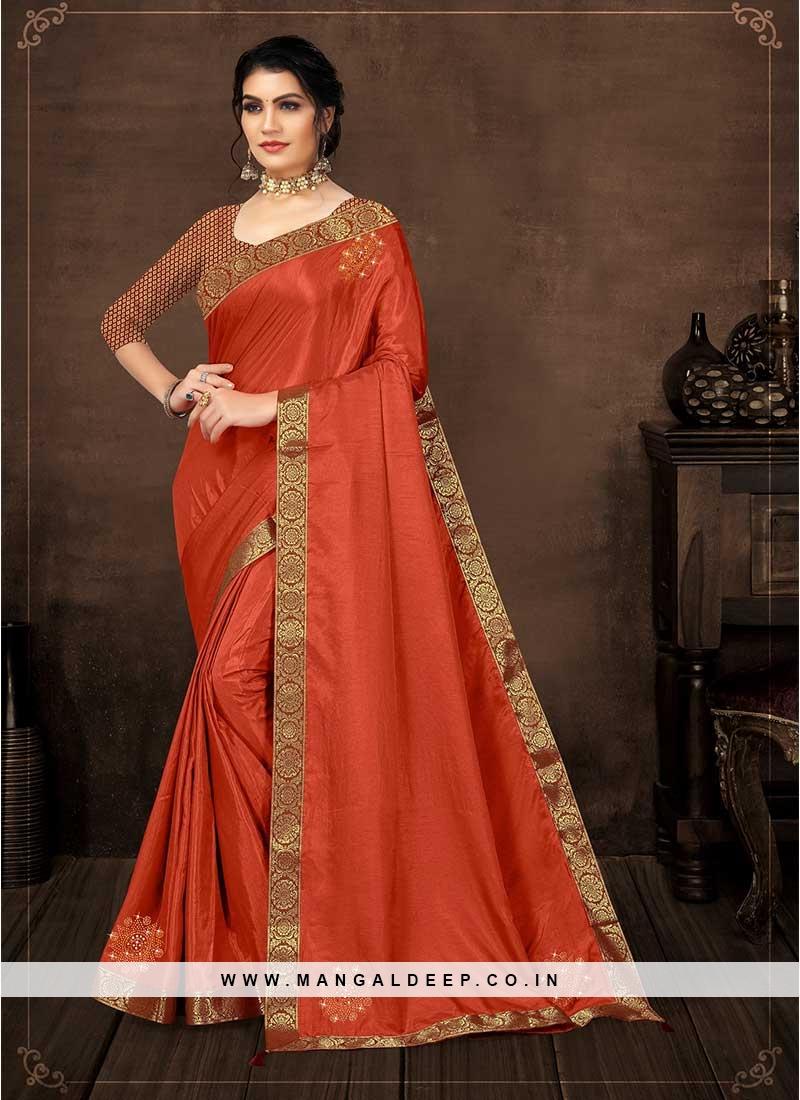 Red Color Silk Regal Saree