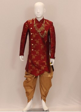 Red Function Wear Fancy Kurta Pajama For Kids