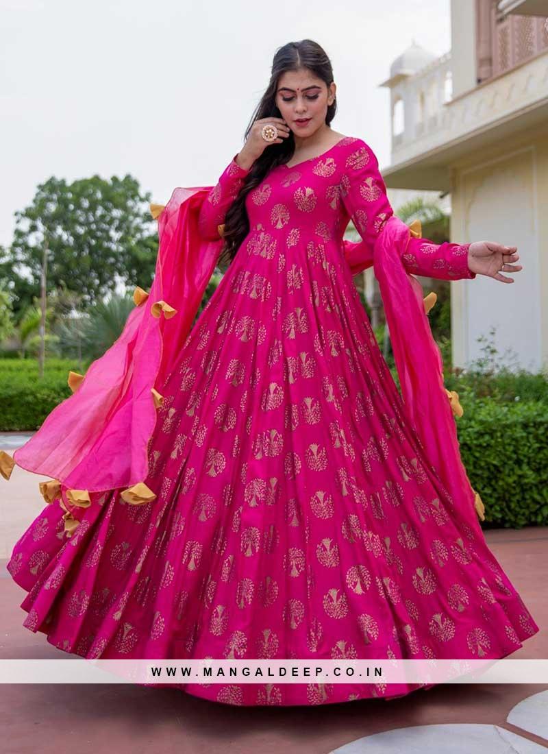 Regal Pink Color Bandhani Print Suit
