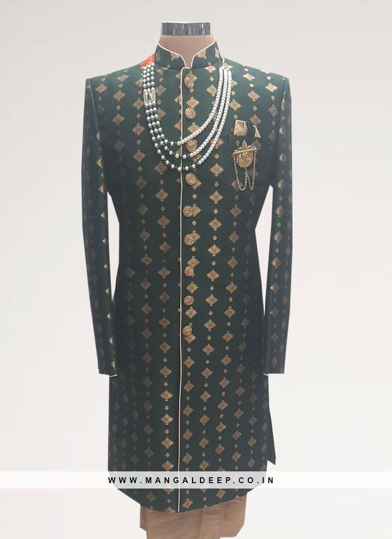 Sangeet Function Wear Black Color Men Kurta Pajama
