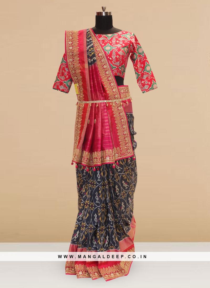 Sangeet Function Wear Blue Color Designer Saree