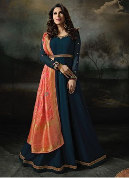 Sangeet Function Wear Blue Color Designer Suit