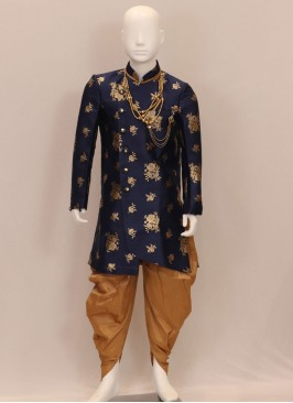 Sangeet Function Wear Blue Color Kurta Pajama For Kids