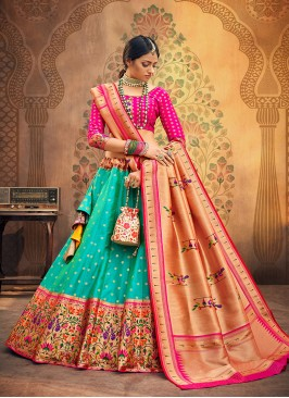 Sangeet Function Wear Green Color Designer Lehenga Choli
