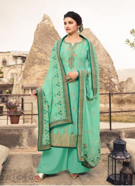 Sangeet Function Wear Green Color Designer Suit