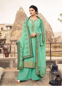 Sangeet Function Wear Green Color Designer Suit
