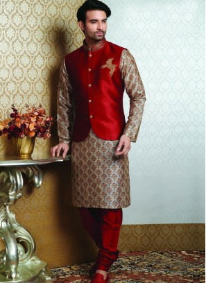 Sangeet Function Wear Multi Color Fancy Kurta Pajama