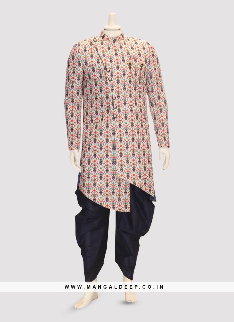 Sangeet Function Wear Multi Color Kurta Pajama
