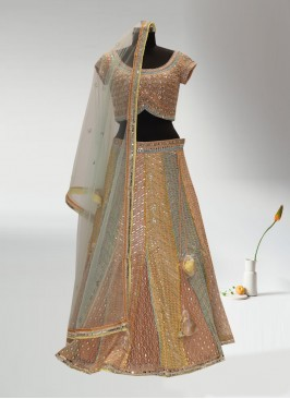 Sangeet Function Wear Multi Color Lehenga Choli
