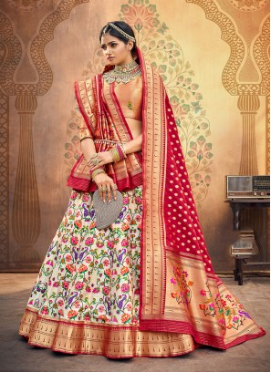 Sangeet Function Wear Off White Color Designer Lehenga Choli